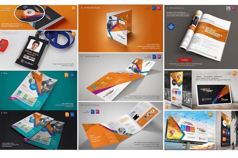 Download: Mockup para Branding Empresarial em .EPS