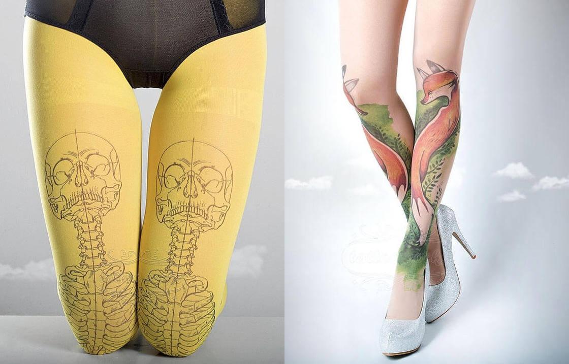 Pernas desenhadas sem tatuagens