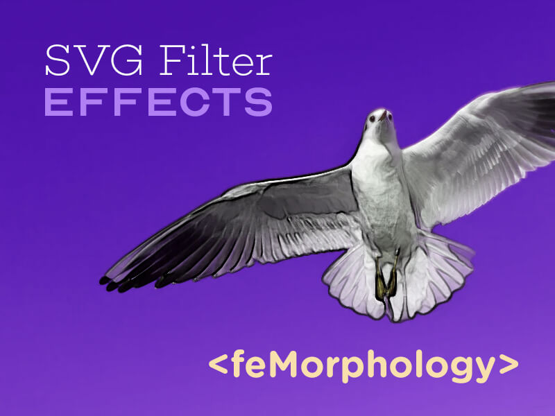 Efeitos de filtro SVG: texto de contorno com