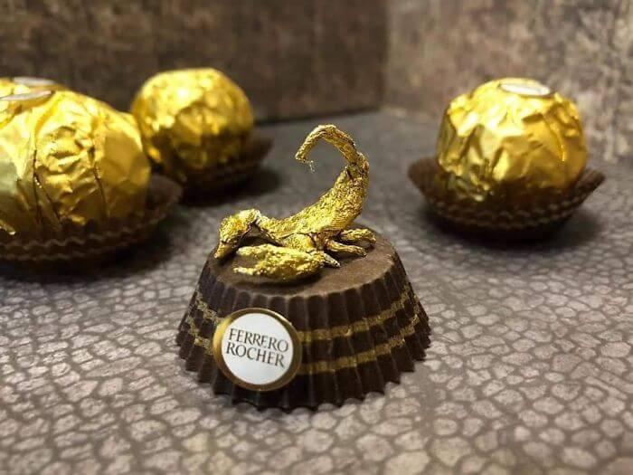 Esculturas Criativas de Animais em Miniatura Feitas De Embalagens De Ferrero Rocher