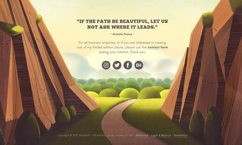 12 exemplos de ilustrações de natureza em web design