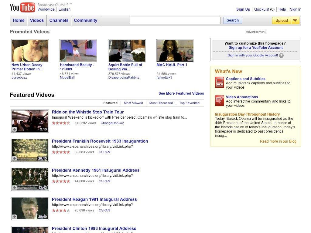 youtube 2009