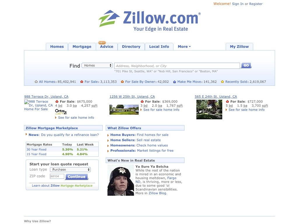 zillow 2009