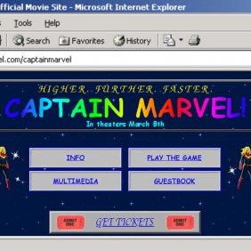 Site da Capitã Marvel te levará de volta para 95