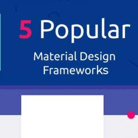 5 principais estruturas de materiais de design gratuitos para desenvolvedores