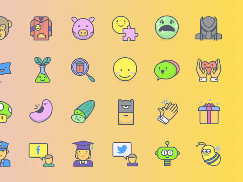 Freebie: Ícones Emojious (AI, SVG, PNG)