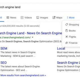 Google lança novo menu de busca com ícones