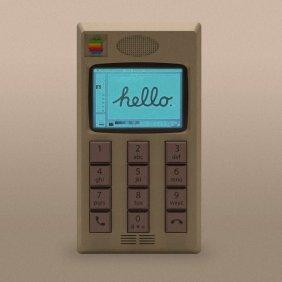 Veja como o iPhone ficaria se a Apple o tivesse projetado na década de 1980