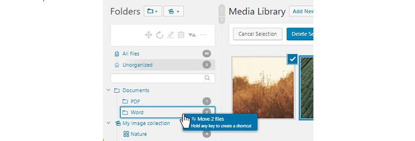 Organize sua biblioteca de mídia do WordPress com pastas