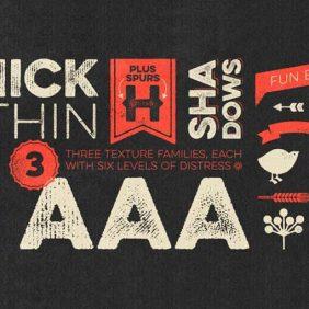 15 fontes texturizadas de Grunge com um estilo artesanal
