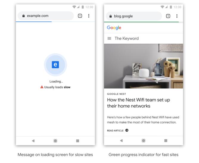 Chrome 'speed badging' envergonha sites que carregam lentamente