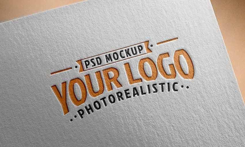 Mockups de Logo Realista Grátis