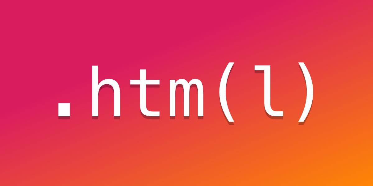 Por que usamos .html em vez de .htm?