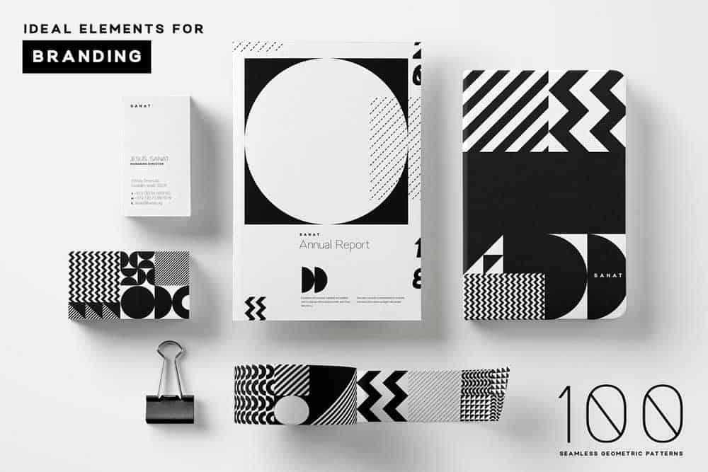 Padrões futuristas em Design Gráfico