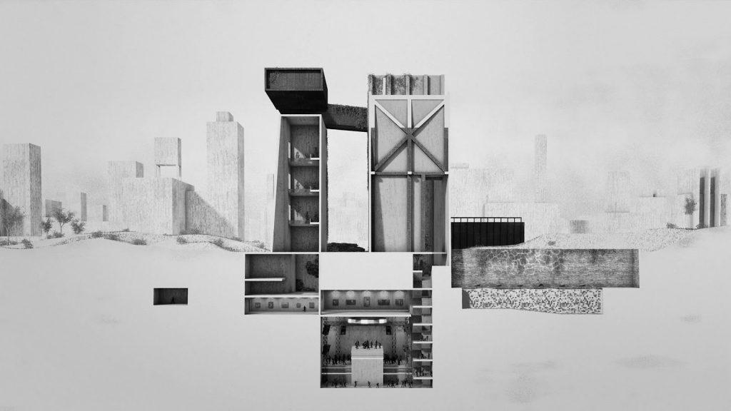 Uma viagem pelo mausoléu imaginário na cidade de Le Corbusier