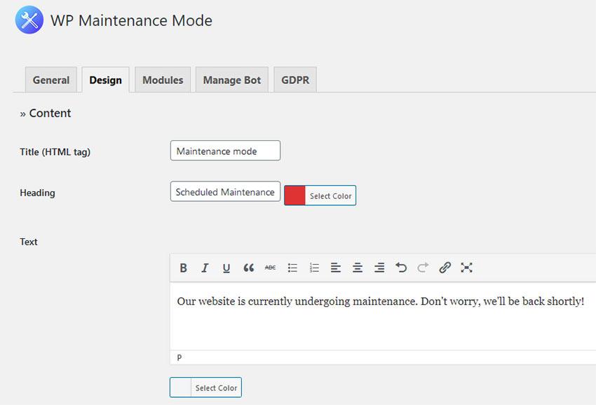 Como colocar o WordPress no modo de manutenção