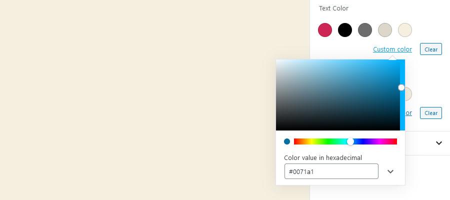 Crie uma paleta de cores personalizada para o WordPress Gutenberg Editor
