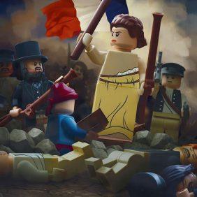 Obras-primas clássicas recriadas com peças de LEGO