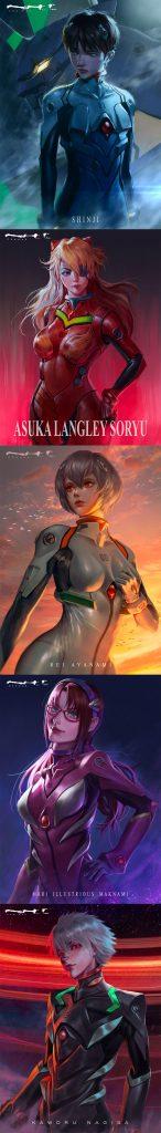 Revivendo a melhor história futurista com Evangelion Fan Art