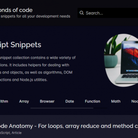 6 Recursos para snippets de código JavaScript