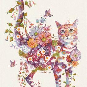 Gato floral: flores botânicas vivas de gatos por Hiroki Takeda