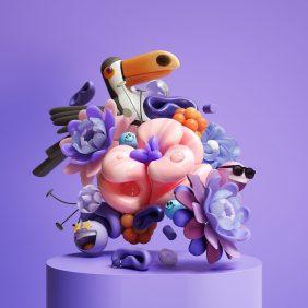 Composições florais 3D