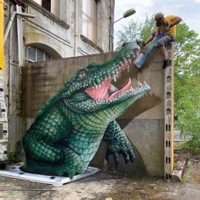 Graffiti 3D impressionante do artista de rua francês Scaf_oner